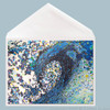 Wave Greeting Card by Tamara Kapan titled Finding Peace