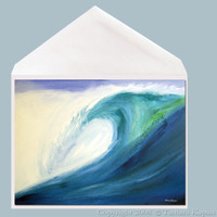 Blue Wave Greeting Card by Tamara Kapan