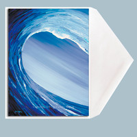 Crossing the Threshold wave art greeting card by Tamara Kapan