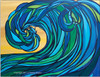 Rogue Wave abstract surf art by Tamara Kapan