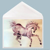 Prancer Horse Greeting Card by Dotty Reiman