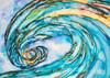 Wave painting by Tamara Kapan titled Liquid Glass