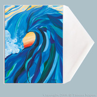 Wave Art Greeting Card by Tamara Kapan titled Braided Barrel.  Card measures 5 x 7 inches.