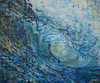 Original large acrylic wave painting by Tamara Kapan