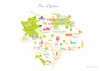 Map of Yorkshire Art Print (Various Sizes)