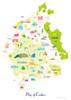Map of Cumbria Art Print (Various Sizes)