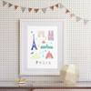 Paris - Papercut Art Print (Various Sizes)