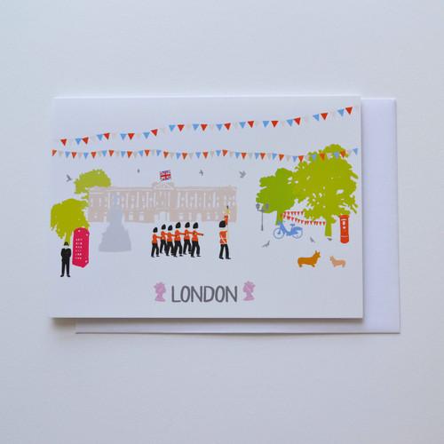 Buckingham Palace London A6 Greeting Card