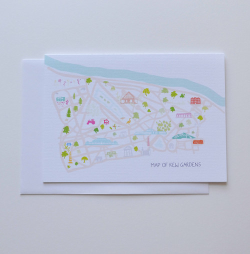 "Map of Kew Gardens 5x7"" Greeting Card"