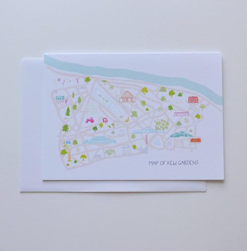 "Map of Kew Gardens 5x7"" Greeting Card"