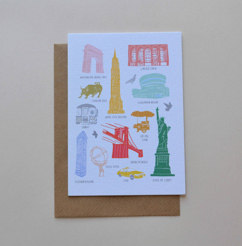 Iconic Buildings of New York A6 Greeting Card