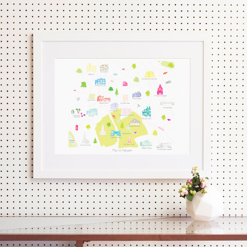 Map of Highgate Art Print (Various Sizes)
