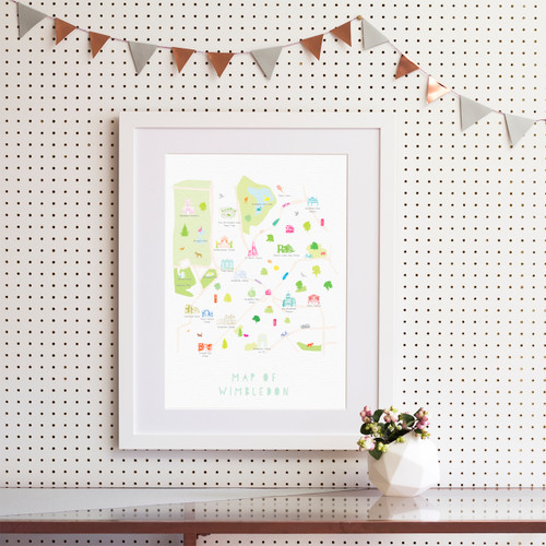 Map of Wimbledon Art Print (Various Sizes)