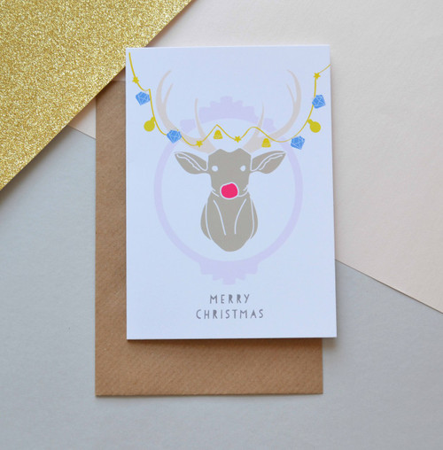 'Stag' A6 Christmas Card