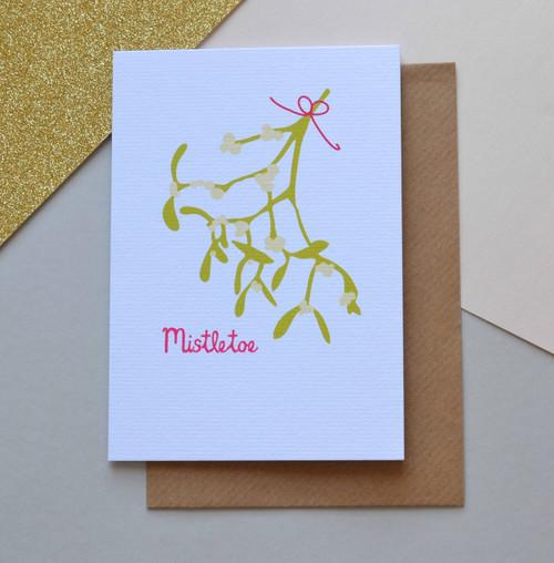 'Christmas Mistletoe' A6 Christmas Card
