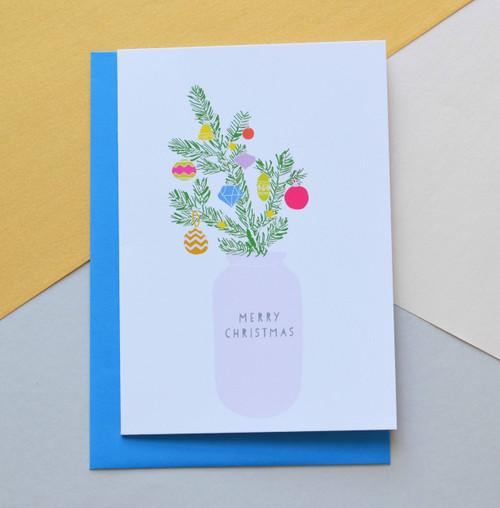 'Christmas Tree' A6 Christmas Card