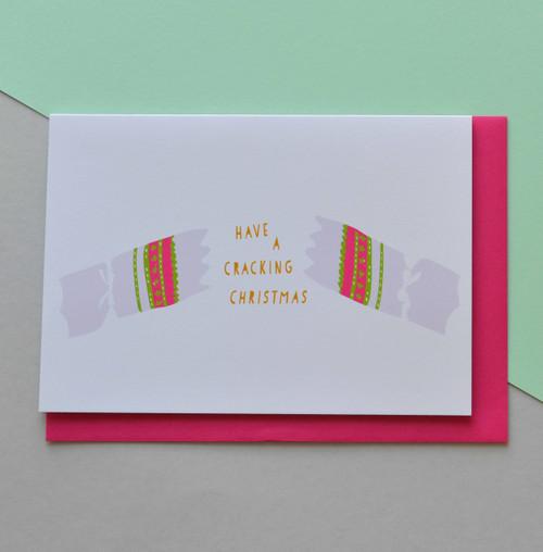 'Cracking Christmas' A6 Christmas Card