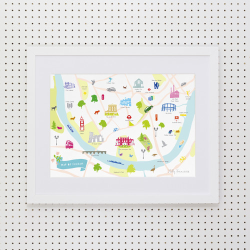 Map of Fulham Art Print (Various Sizes)
