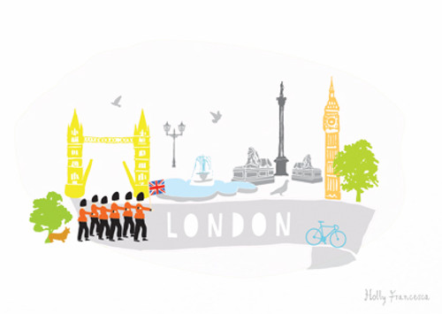 London Scene Art Print (Various Sizes)