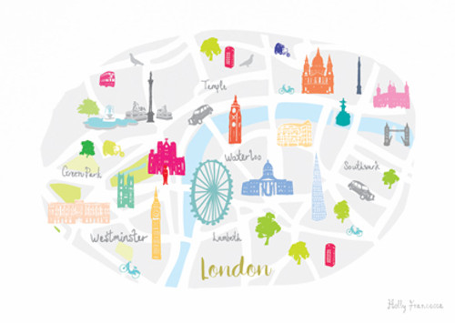 London Map Art Print (Various Sizes)