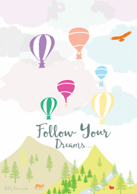 Follow your dreams Art Print (Various Sizes)
