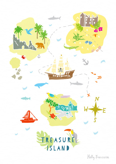 Treasure Map Art Print (Various Sizes)