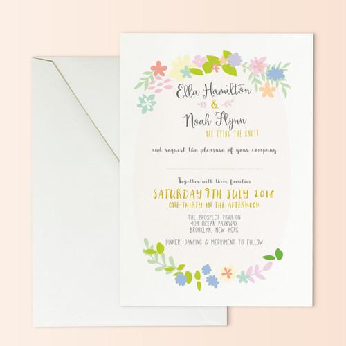Wreath Wedding Invite