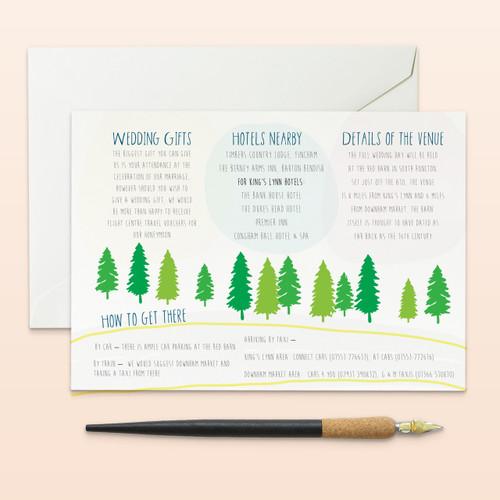 Barn Wedding Useful information card