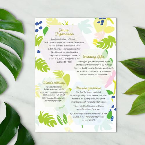 Useful information cards - Summer Set