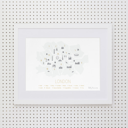 London Boroughs 'Minimalist' Art Print (Snowdon Blue)