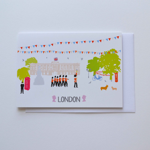 "Buckingham Palace London 5x7"" Greeting Card"