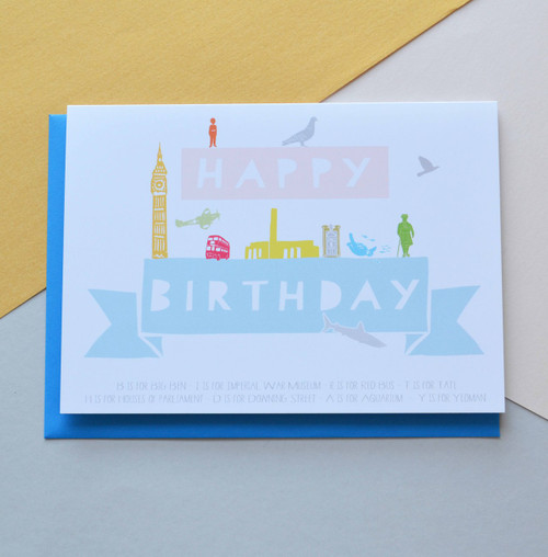 "Happy Birthday London 5x7"" Birthday Card"