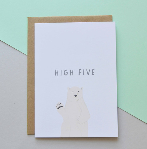 "High Five 5x7"" Greeting Card"