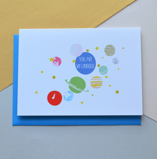 """You are my Universe 5x7"""" Greeting Card"""