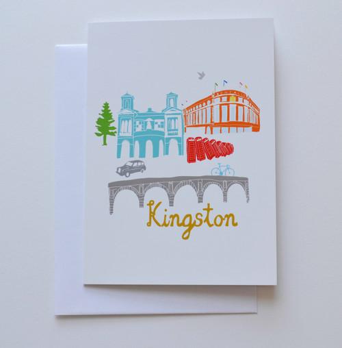 "Kingston Buildings 5x7"" Greeting Card"