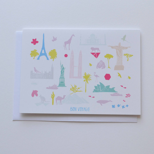 "Bon Voyage 5x7"" Greeting Card"