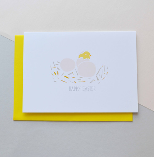 "Happy Easter Chick 5x7"" Greeting Card"