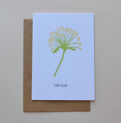 Wild Garlic A6 Greeting Card