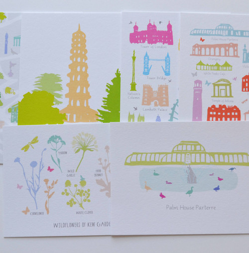 London & Kew Gardens postcards - Set of 6