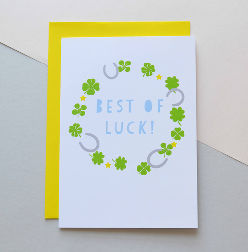 "Best of Luck 5x7"" Greeting Card"