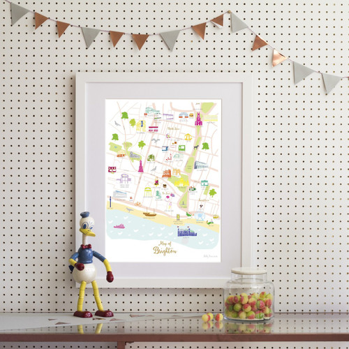 Map of Brighton Art Print (Various Sizes)