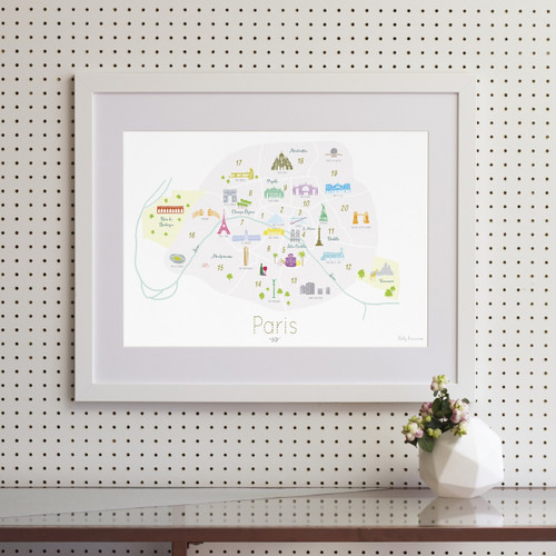 Arrondissements of Paris Art Print (Various Sizes)