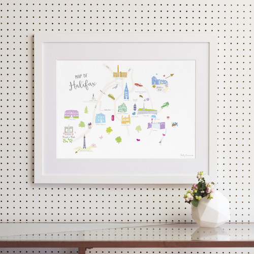 Map of Halifax Art Print (Various Sizes)
