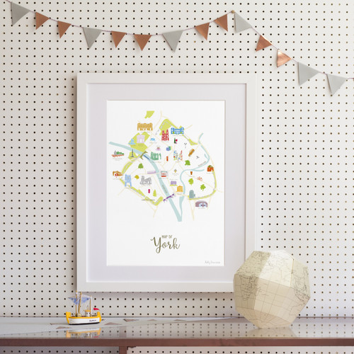 Map of York Art Print (Various Sizes)