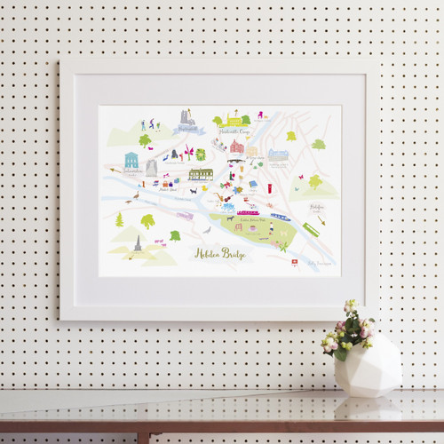 Map of Hebden Bridge Art Print (Various Sizes)