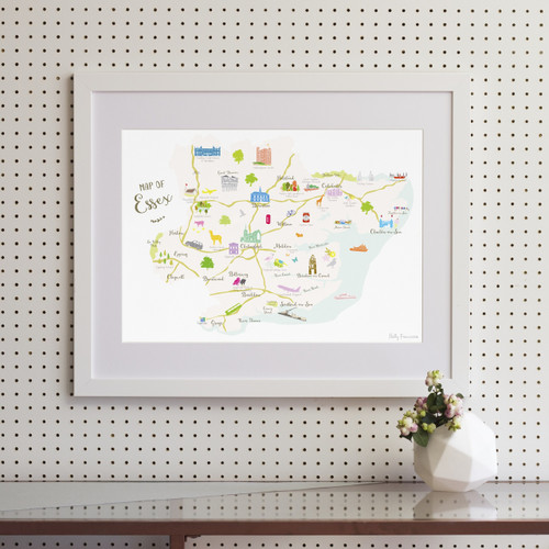 Map of Essex Art Print (Various Sizes)