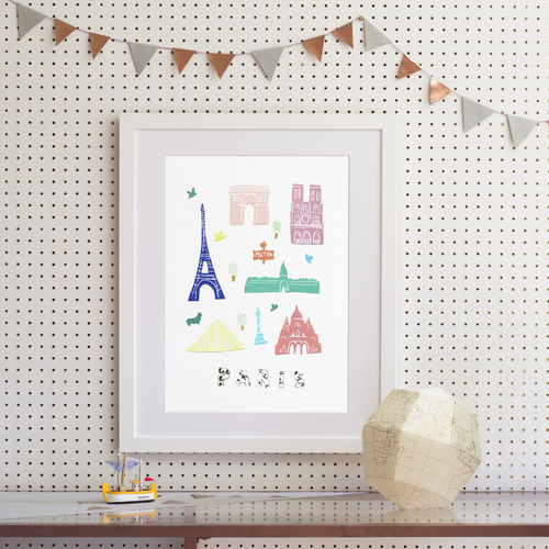 Paris - Papercut Art Print (Various Sizes)