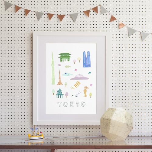 Tokyo - Papercut Art Print (Various Sizes)