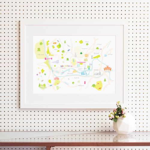 Map of Bristol Art Print (Various Sizes)