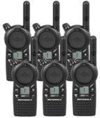 Motorola CLS1110 Two Way Radio 6 Pack